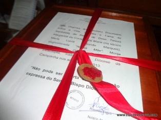 Congregação dos santos recebe na próxima semana o processo de beatificação de nossa mãe