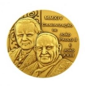 Casa da Moeda: medalhas comemorativas pela canonização de JP II e João XXIII