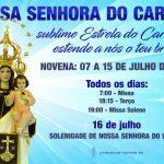 Novena Nossa Senhora do Carmo. Programe-se!